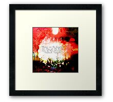 Blessed Are The Forgetful Framed Print