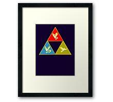 Kanto's Legendary Triforce 2.0 Framed Print