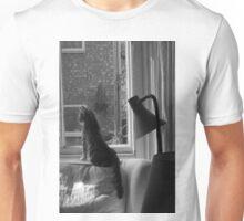 Cats. Watching & Waiting. It's what we do. Unisex T-Shirt