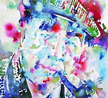 PABLO NERUDA - watercolor portrait.2 by lautir