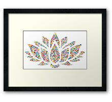 Multicolored Lotus Framed Print