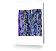 Qualia's Grass (Dreamy Blue) Greeting Card