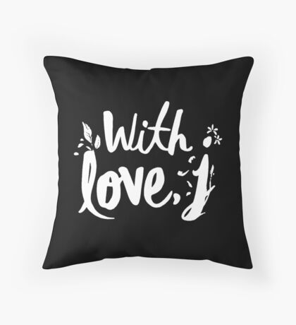 love with J Throw Pillow