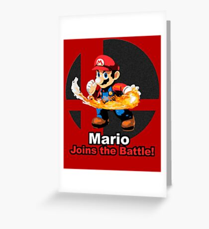Mario Joins the Battle! Greeting Card