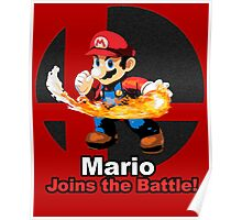 Mario Joins the Battle! Poster