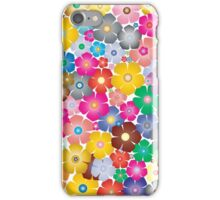 Multicolored Pastel Flowers iPhone Case/Skin