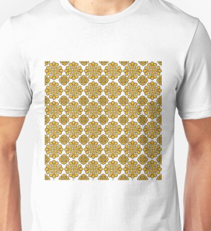 Gorgeous Golden Color on White Pattern Unisex T-Shirt