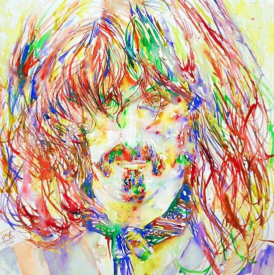 FRANK ZAPPA  watercolor portrait.1 by lautir