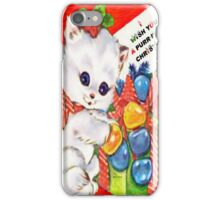 Kitty at Christmas time iPhone Case/Skin