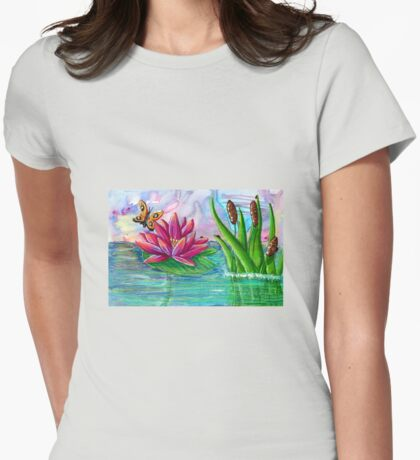 Waterlily  Womens Fitted T-Shirt