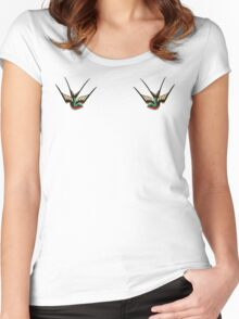 Swallows  Women's Fitted Scoop T-Shirt