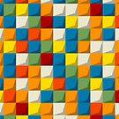 Colored mosaic seamless pattern by Richard Laschon