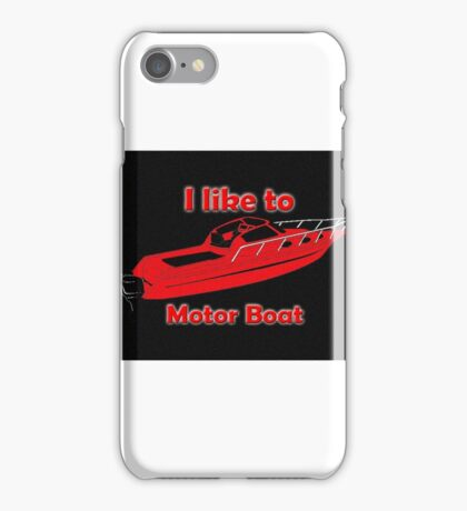 Motor Boating iPhone Case/Skin