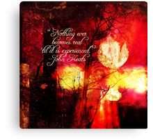Nothing Ever Becomes Real Canvas Print