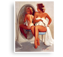 Retro - Sexy Pin Up Girl  Canvas Print