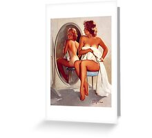 Retro - Sexy Pin Up Girl  Greeting Card