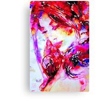 WATERCOLOR WOMAN.24 Canvas Print