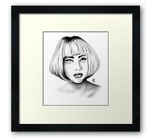 Lady Gaga - Portrait 01 Framed Print