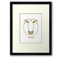 The Pisces Zodiac Sign Framed Print