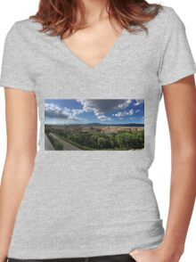 Panorama of Florence Women's Fitted V-Neck T-Shirt