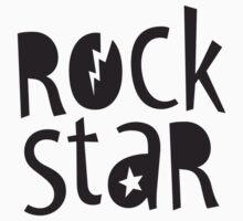 "MODERN POP TYPE bold black monochrome typography ""rockstar"""" by Kat Massard"