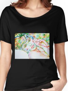 WATERCOLOR LADY Women's Relaxed Fit T-Shirt