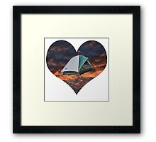 Camping has my heart  Framed Print