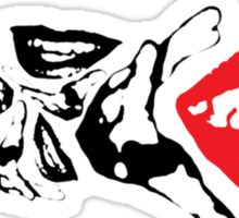 lips and hands Sticker