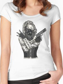 Marilyn Monroe 'Gangstified' Women's Fitted Scoop T-Shirt