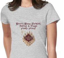 Harry Potter Marauders Map Womens Fitted T-Shirt