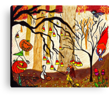 Halloween Forest Canvas Print