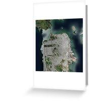 San Francisco Satellite Greeting Card