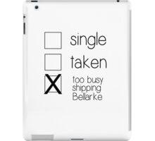 single taken bellarke B iPad Case/Skin