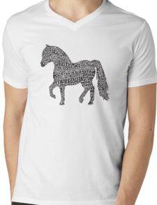 Bye Bye Lil Sebastian Calligram // Parks & Recreation Mens V-Neck T-Shirt