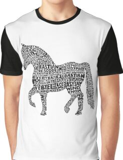 Bye Bye Lil Sebastian Calligram // Parks & Recreation Graphic T-Shirt