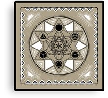 SACRED GEOMETRY - METATRONS CUBE - PLATONIC SOLIDS - FLOWER OF LIFE - SPIRITUALITY Canvas Print