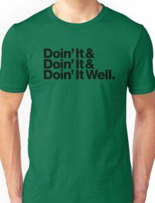 Doin' It Well Helvetica Unisex T-Shirt