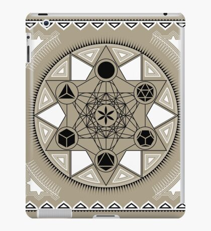 SACRED GEOMETRY - METATRONS CUBE - PLATONIC SOLIDS - FLOWER OF LIFE - SPIRITUALITY iPad Case/Skin