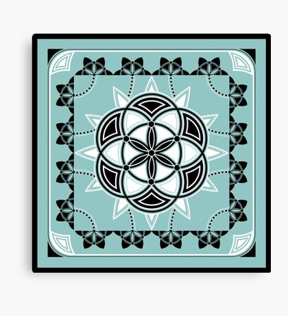 SACRED GEOMETRY - SEED OF LIFE - FLOWER OF LIFE - SPIRITUALITY Canvas Print