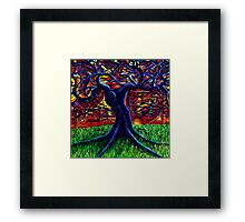 Purple Tree Framed Print
