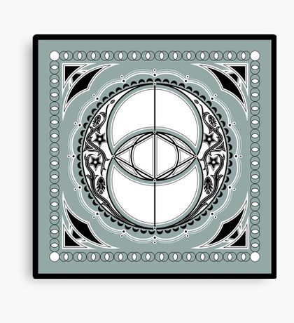 SACRED GEOMETRY - VESICA PISCIS - FLOWER OF LIFE - CHALICE WELL - SPIRITUALITY Canvas Print
