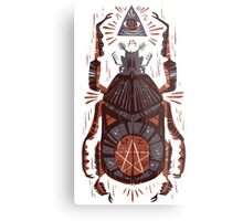 All Seeing Eye - Beetle One - Red Metal Print