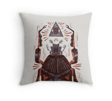 All Seeing Eye - Beetle One - Red Throw Pillow