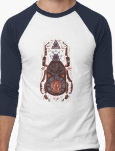 All Seeing Eye - Beetle One - Red Men's Baseball ¾ T-Shirt