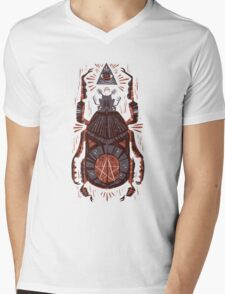 All Seeing Eye - Beetle One - Red Mens V-Neck T-Shirt
