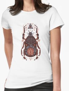 All Seeing Eye - Beetle One - Red Womens Fitted T-Shirt