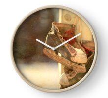 Vintage Ice Skates  Clock