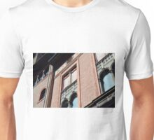 Classical Italian building facade with red brick and arches in Bologna, Italy Unisex T-Shirt