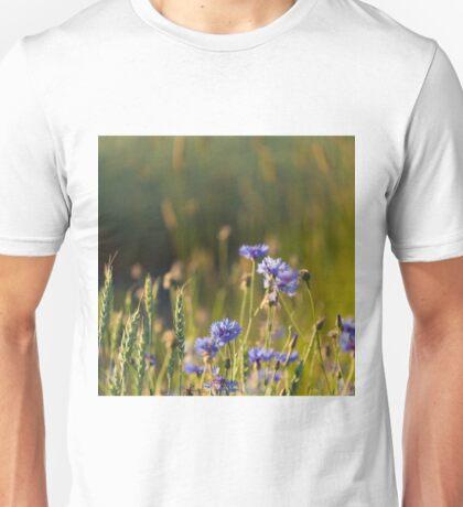 Cornflowers and common wheat Unisex T-Shirt