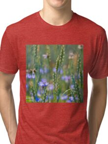 Cornflower and wheat field Tri-blend T-Shirt